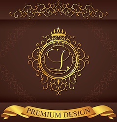 Letter l luxury logo template flourishes vector