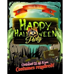 Halloween poster background eps 10 vector
