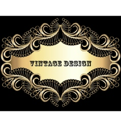 Vintage background frame vector