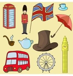 United kingdom of great britain symbols vector