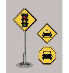 Traffic signals design vector