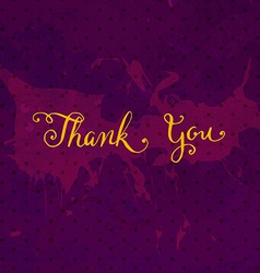 Rustic thank you card vector