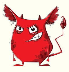 Anger red monster vector