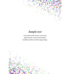 Rainbow page corner design template vector