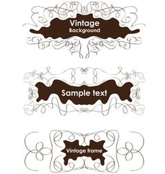 Vintage frames vignette borders vector