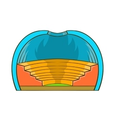 Indoor stadium icon cartoon style vector