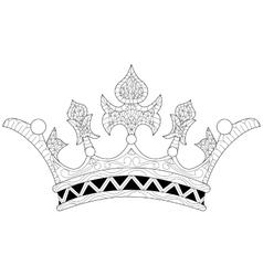A crown coloring book vector