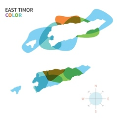 Abstract color map of East Timor vector image vector image