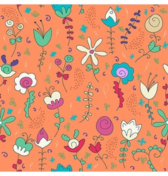 background of flower and plant vector image vector image