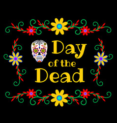 Banner for day of the dead vector