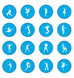 Dances icon blue vector