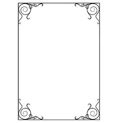 Decorative page border vector image vector image