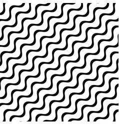 Diagonal stripes waves geometric pattern vector