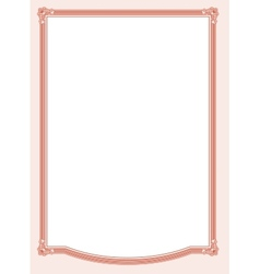 Diploma frame vector image