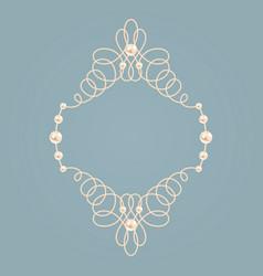 elegant golden knot frame vector image vector image