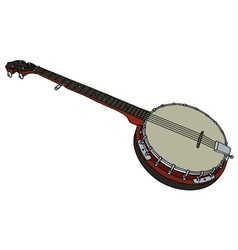Five string banjo vector