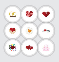 flat icon passion set of patisserie soul vector image