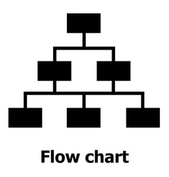 Flow chart icon simple style vector