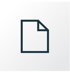 Folder outline symbol premium quality isolated vector