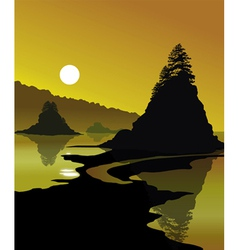 Golden Shores vector image vector image