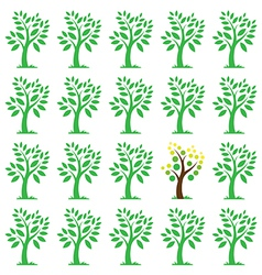images of trees vector image vector image