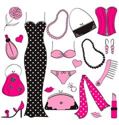 Ladies fashion set vector