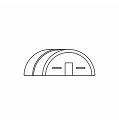 Large hangar icon outline style vector