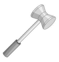 Medical reflex hammer icon monochrome vector