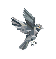 Old world sparrow low polygon vector