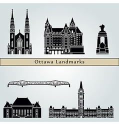 Ottawa V2 landmarks and monuments vector image