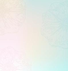 Pastel flower poster vector