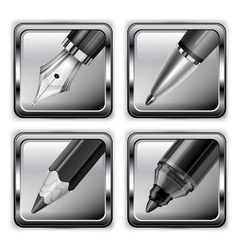 pen icon set 10 v vector image vector image