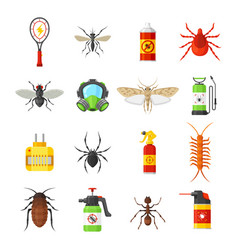 pest control icons on white background vector image