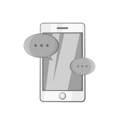 Phone messages icon black monochrome style vector