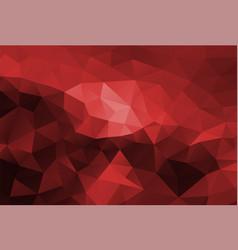 Polygon background dark red vector