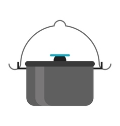 pot food element camping vector image