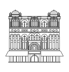 Queen victoria building icon in outline style vector