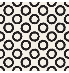 Seamless Black And White Jumble Circles vector image vector image
