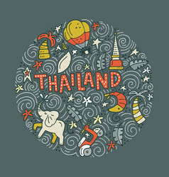 thailand symbols vector image