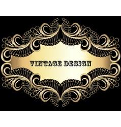 Vintage background frame vector