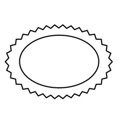 Contour oval cloud bubble icon vector