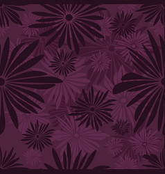 Seamless floral pattern with dark and light purple vector