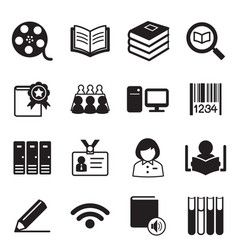 Library icons symbol vector