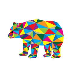 Geometric bear vector