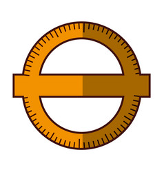 Compass ruler school vector
