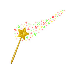 Magic wand with stream of stars vector