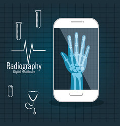 X ray digital medical healthcare isolated vector
