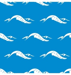 Seamless pattern of a cresting ocean wave vector