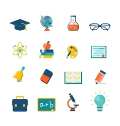 Education flat icons vector