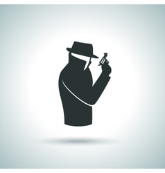 Secret agent icon vector